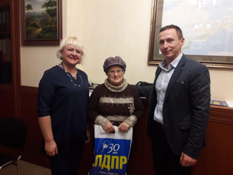 ЛДПР в Севастополе поздравляет с юбилеем Галину Яблонскую