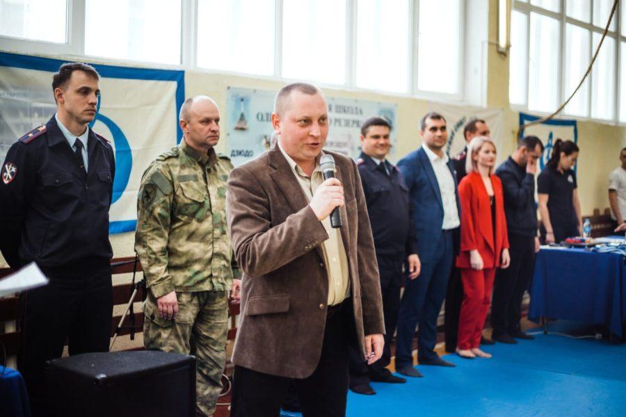 Артем Гордиенко принял участие в открытии турнира по рукопашному бою «Юный Динамовец»